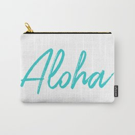 Aloha in Tropical Blue Carry-All Pouch