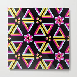 Vibrant Penrose Triangle Pattern Metal Print