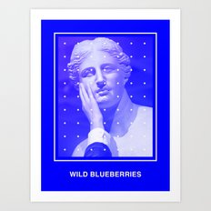 Wild Blueberries Art Print