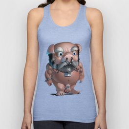 Slave Tumble in Chastity Unisex Tank Top