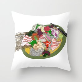 Gorgeous Sashimi Set from Mr Sasaki Throw Pillow