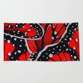 red monarch Beach Towel