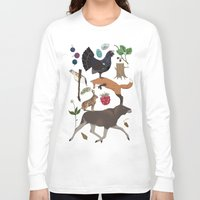 woodland Long Sleeve T-shirts featuring Woodland by Emma Jansson