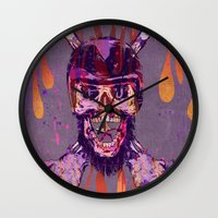 moto Wall Clocks featuring Moto Head by Beery Method