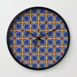 Sunset Sky Tiles Wall Clock