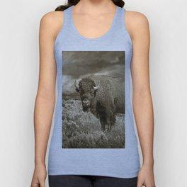 American Buffalo in Sepia Tone Unisex Tank Top