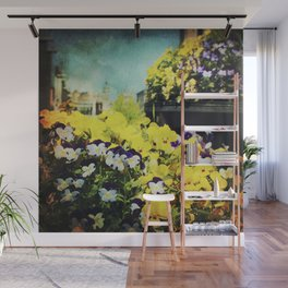 Behind the flowers Wall Mural