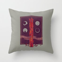'Neath the Tower of Incomprehensible Sorcery Throw Pillow