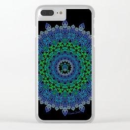 Tara's Tribal Turtle Mandala Clear iPhone Case