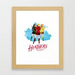 Heathers Minimalist Framed Art Print