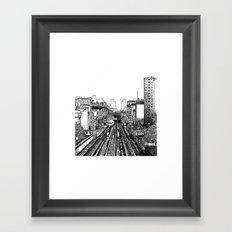 NY Train Framed Art Print
