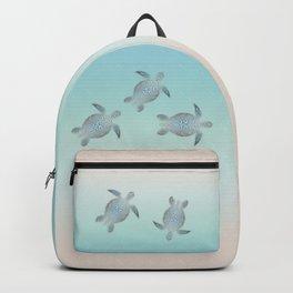 Silver Sea Turtles Backpack