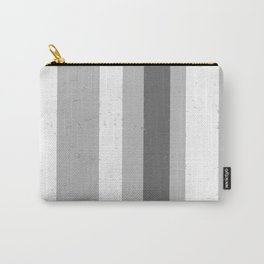 Asymmetrical Multi Value Grey Flecked Jagged Stripes Carry-All Pouch