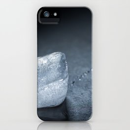 a cube of ice that melts iPhone Case