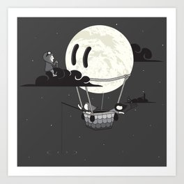 You Should See The Moon In Flight Art Print