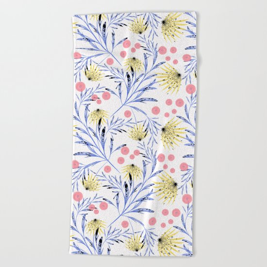 Abstract floral pattern. Beach Towel