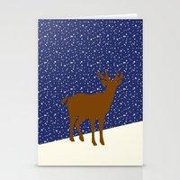 reindeer Stationery Cards featuring Reindeer by Mr & Mrs Quirynen