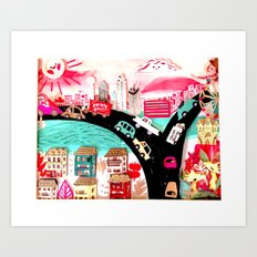 Welcome to Dallas Art Print