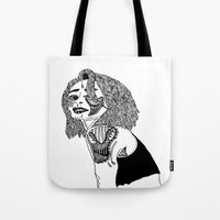 doll Tote Bags featuring Doll by Kat Leimbach