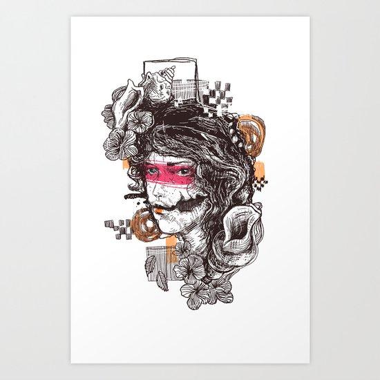 lookbroken Art Print