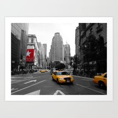 Intersection between Broadway and the Avenue of the Americas, New York City Art Print