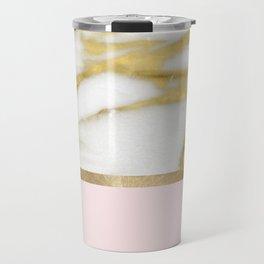 Bari Peach Marble Travel Mug