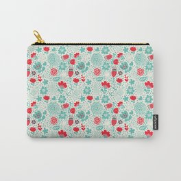 Floral owls Carry-All Pouch