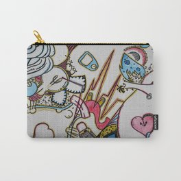Plug Me In v.2 A Splash of Color  Carry-All Pouch