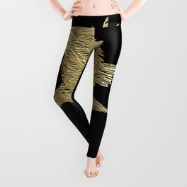 """Golden Boy"" Eagle Design Leggings"