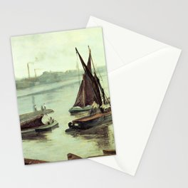 Grey And Silver Old Battersea Reach By James Mcneill Whistler | Reproduction Stationery Cards