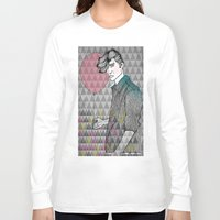 ballon Long Sleeve T-shirts featuring The Man With The Ballon by Karin Ohlsson