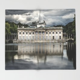 Pretty palace in Warsaw Throw Blanket