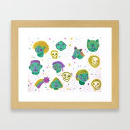 Faces in the night sky. Framed Art Print