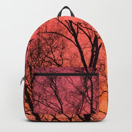 Tree Silhouttes Against The Sunset Sky #decor #society6 #homedecor Backpack