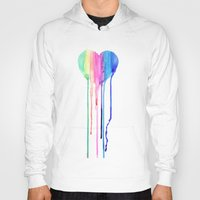 water colour Hoodies featuring Colour by sseo_story