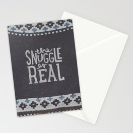 the snuggle is real Stationery Cards
