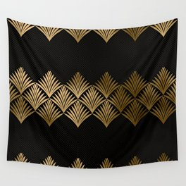 Reims, France: Luxueux Black and Gold Art Deco Wall Tapestry