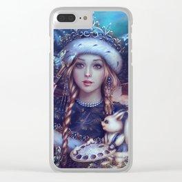 Snegurochka Clear iPhone Case