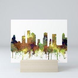 Houston Texas Skyline SG - Safari Buff Mini Art Print