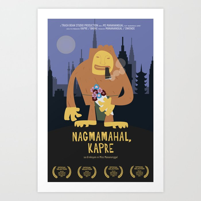 Nagmamahal, Kapre (Philippine Mythological Creatures Series) Art Print