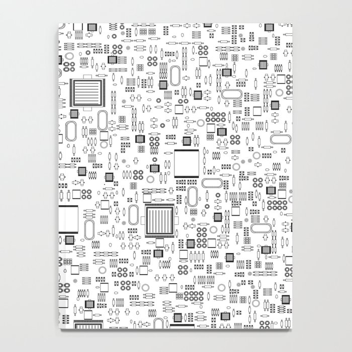 All Tech Line / Highly detailed computer circuit board pattern ...