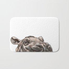 Peeking Baby Hippo Bath Mat