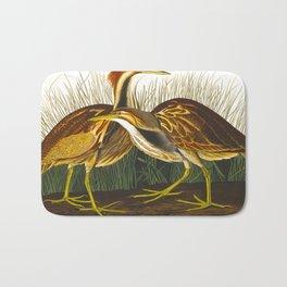 American Bittern Vintage Bird Art Bath Mat