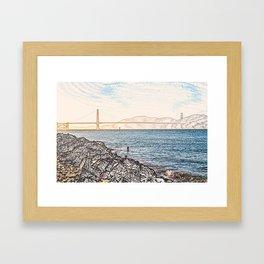 Golden Gate Bridge ArtWork Painting Framed Art Print