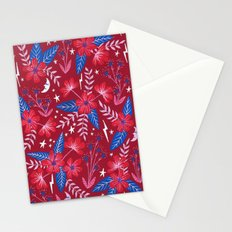 Red Moon Garden Stationery Cards