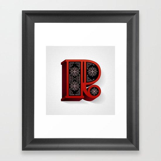 The Letter R Framed Art Print