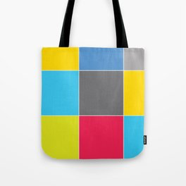 Colors and Squares Tote Bag