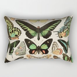Papillon II Vintage French Butterfly Chart by Adolphe Millot Rectangular Pillow
