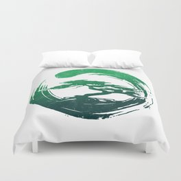 Green Bonsai in Enso Duvet Cover