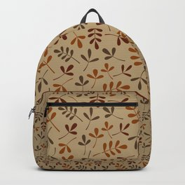 Fall Color Assorted Leaf Silhouettes II Backpack